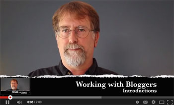 Video course - working with bloggers